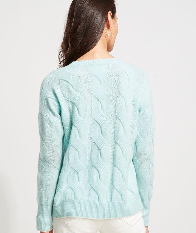 Seaspun Cashmere Cable-Knit Crewneck Sweater