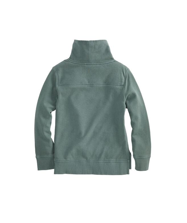 Girls Garment-Dyed Funnel Neck Shep Shirt