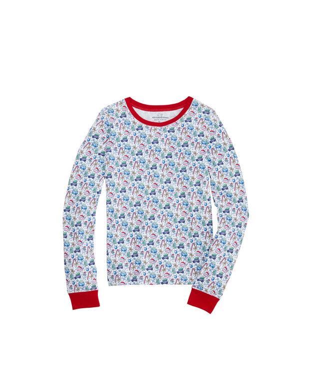 Girls Holiday Snug Fit Pajama Set