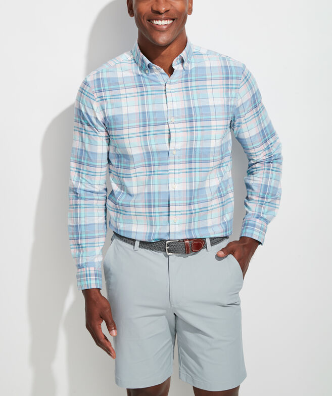 Classic Fit Tropical Fronds Murray Button-Down Shirt