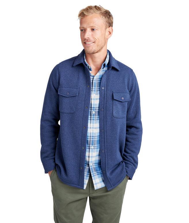 Sweater Fleece Shirt Jacket