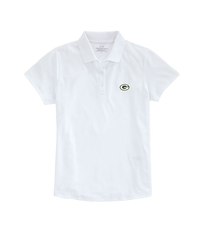Greenbay Packers Womens Performance Pique Stretch Polo