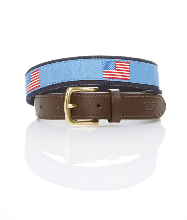 American Flags Canvas Club Belt