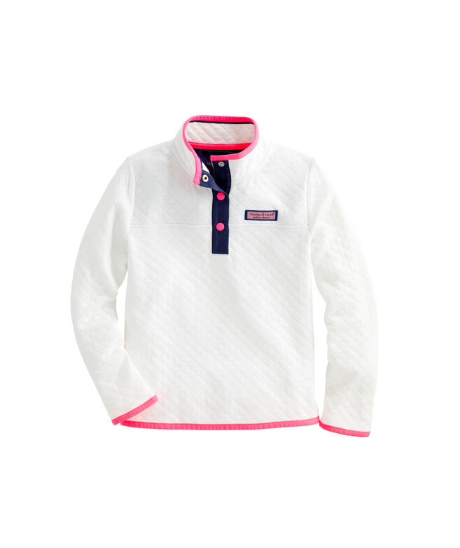 Girls' Diamond Quilted Snap Placket Shep Shirt