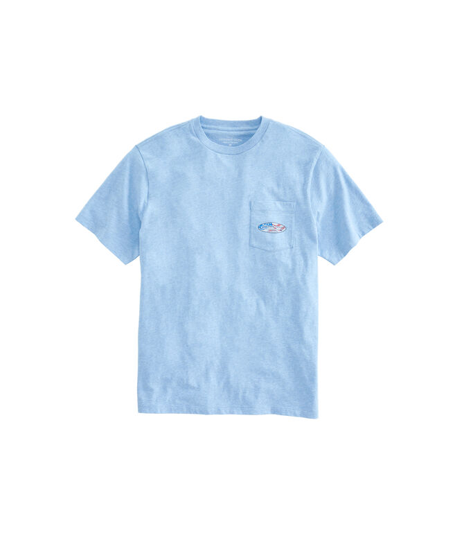 Big & Tall Heather USA Surf Logo Pocket T-Shirt