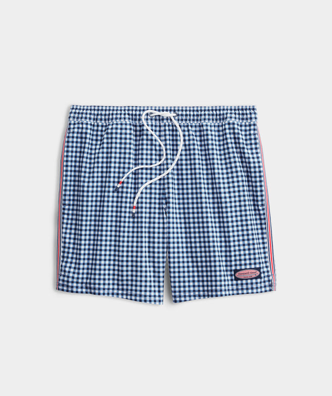 7 Inch Gingham Chappy Trunks