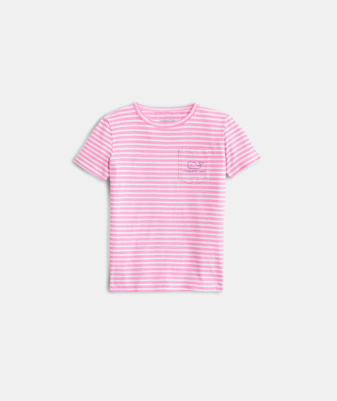 Girls' Windward Stripe Vintage Short-Sleeve Whale Tee