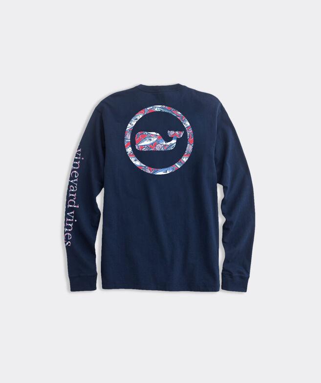 Vineyard Fish Whale Dot Long-Sleeve Pocket Tee
