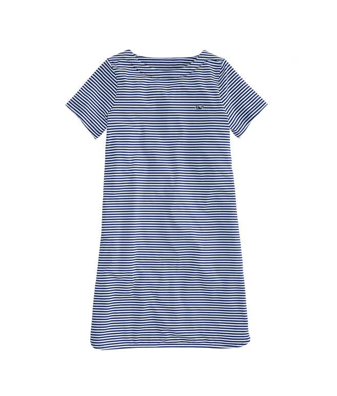 Girls Short-Sleeve Stripe Sankaty Dress