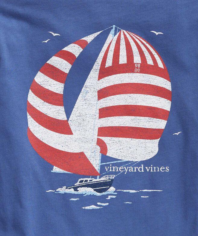 Boys' Stripe Sails Long-Sleeve Pocket Tee