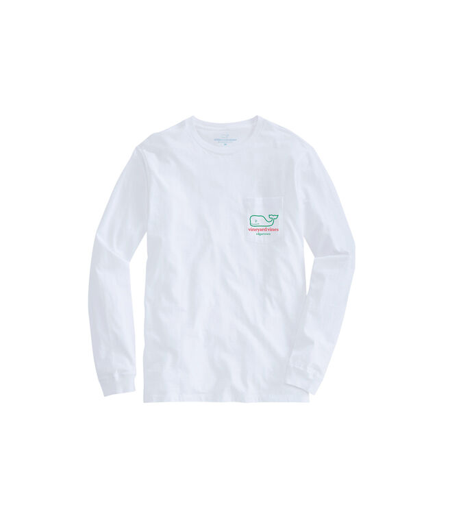 Edgartown Long-Sleeve Whale Christmas Icon T-Shirt