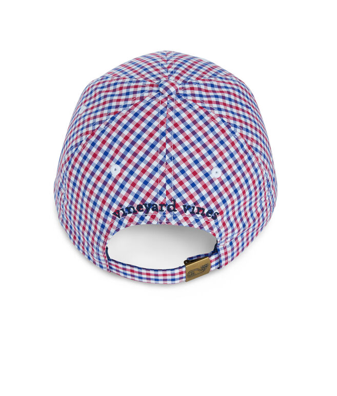 Gingham Baseball Hat