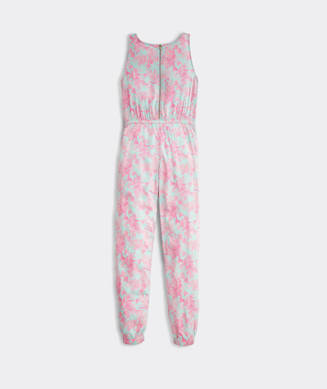 Girls' Bougainvillea Print Jumpsuit