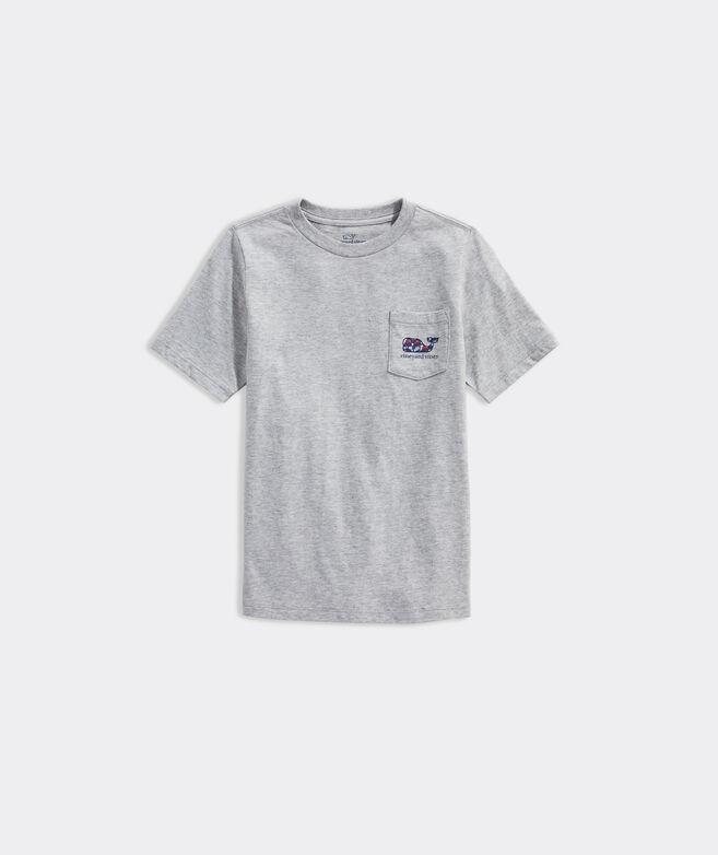 Boys' Lacrosse Gear Whale Fill Short-Sleeve Pocket Tee