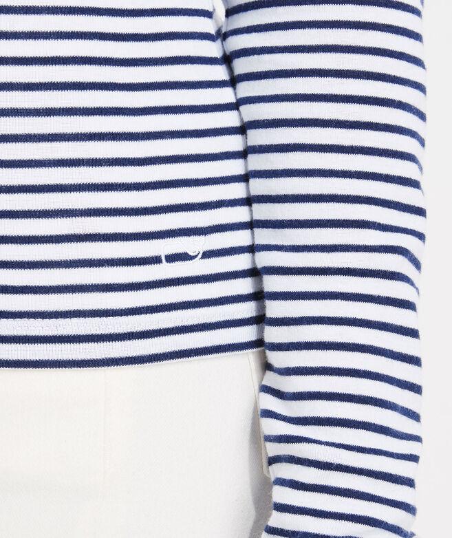 Simple Striped Turtleneck