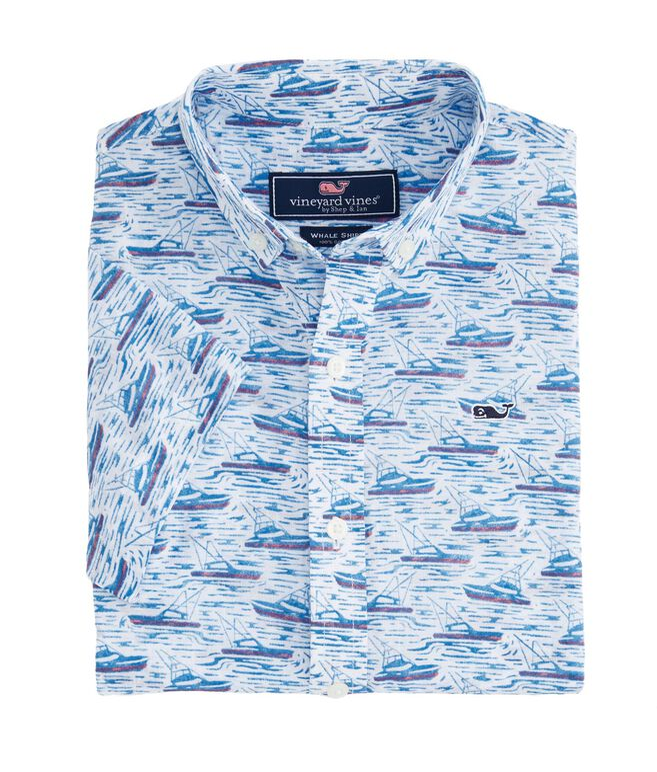 Boys Sportfisher Shorts Sleeve Whale Shirt
