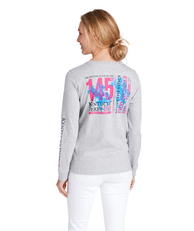 Long-Sleeve Kentucky Derby 145 Ticket Pocket Tee