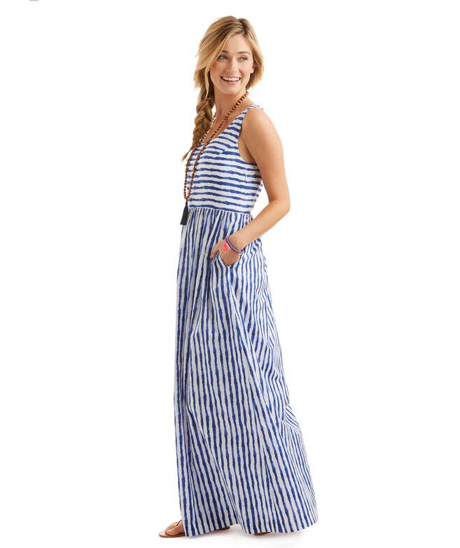 Shop Painted Stripe Maxi Dress At Vineyard Vines