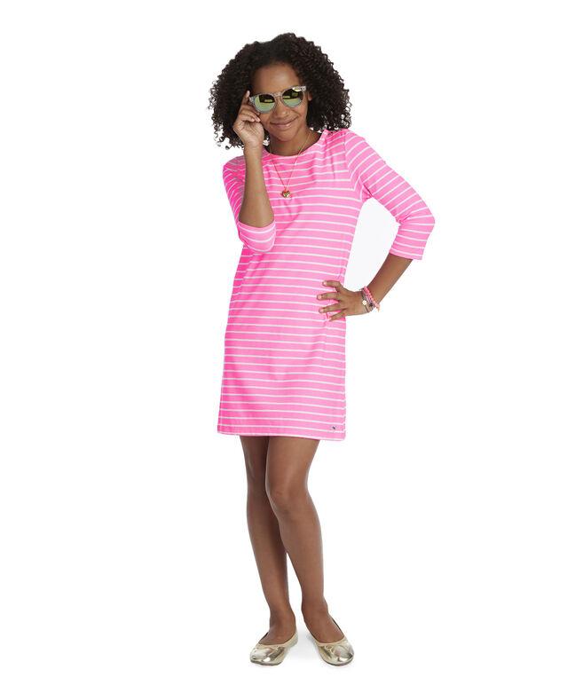 Girls Knit Stripe Neon Tisbury Dress