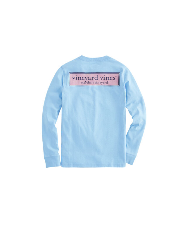 Boys Vineyard Logo Box Long-Sleeve T-Shirt