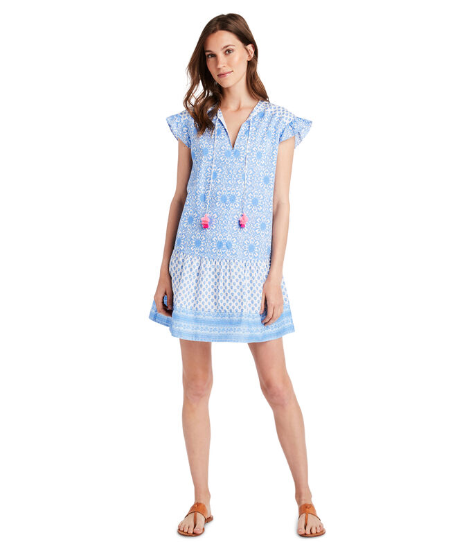 Tile Medallion Vineyard Tunic Dress