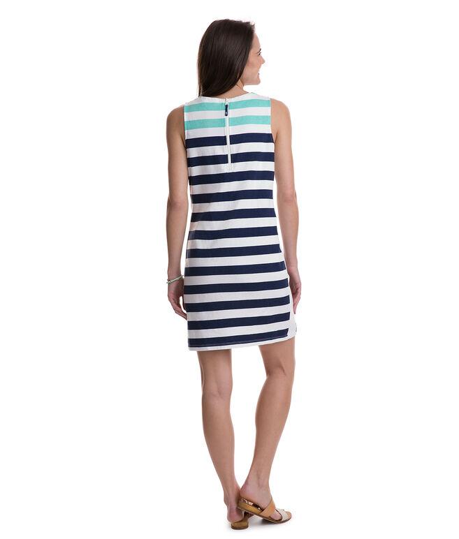 Combo Stripe Sleeveless Knit Dress