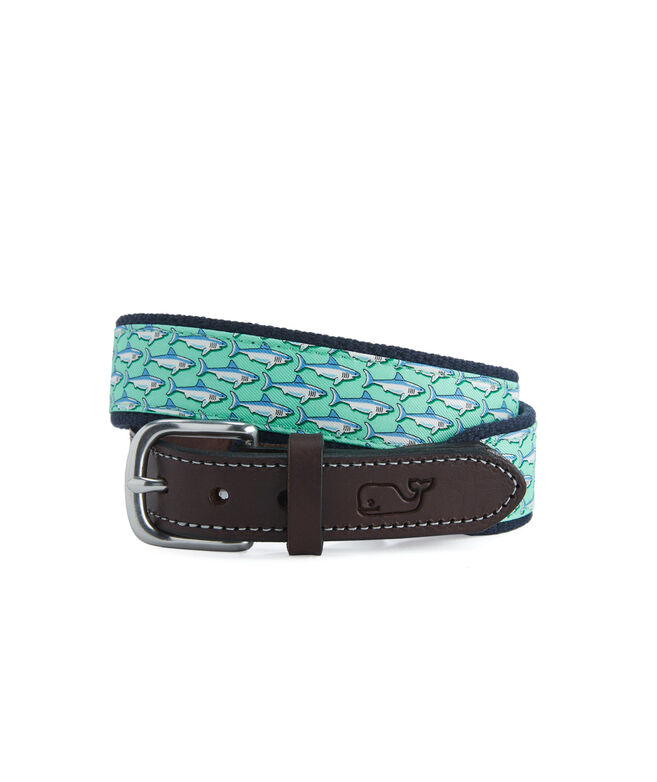 Boys Sharks Canvas Club Belt