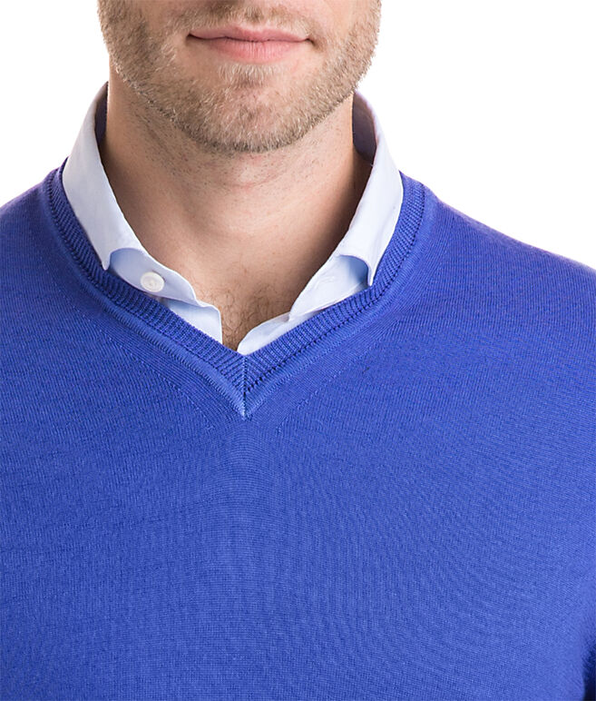 The Greenwich Garment Dyed Merino V-Neck Sweater