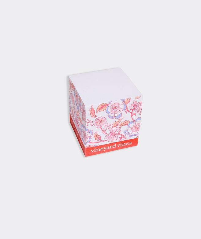 Floral Block Print Sticky Notes