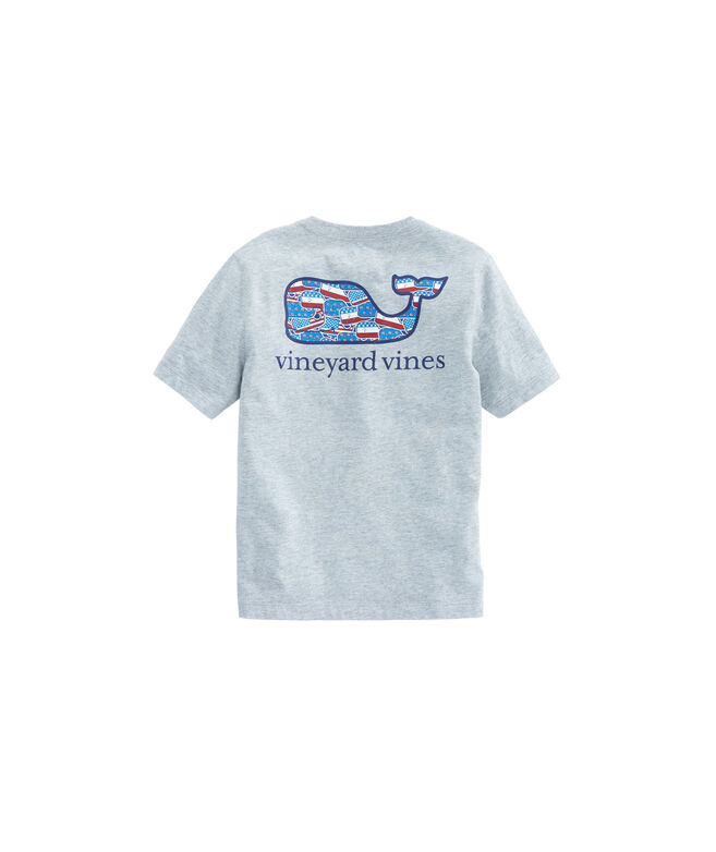 Boys Whaley USA Whale Fill Pocket T-Shirt