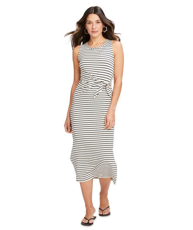 Lurex Stripe Knit Midi Dress