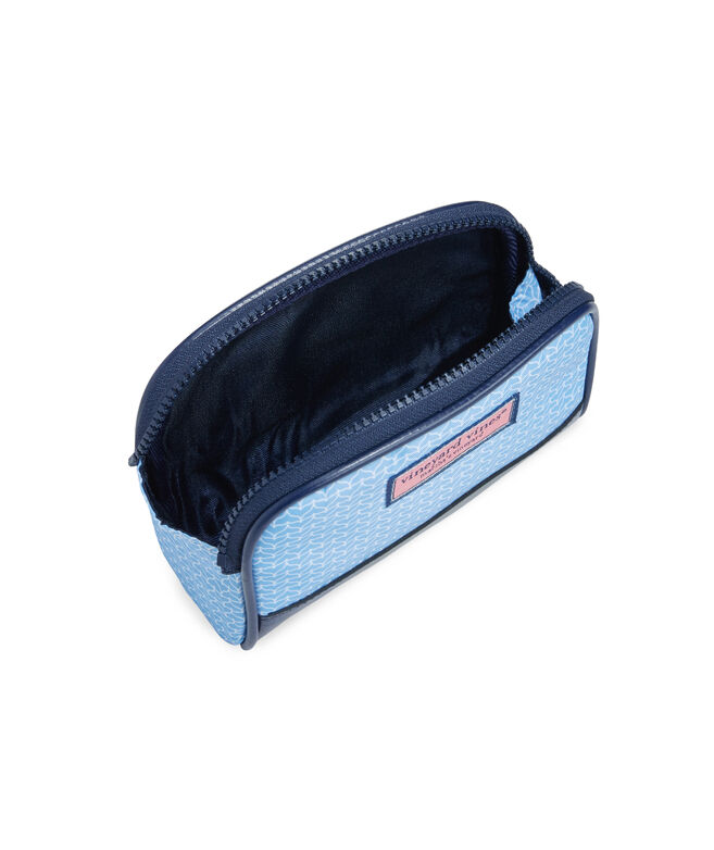 Whale Tail Leather Bottom Cosmetic Case