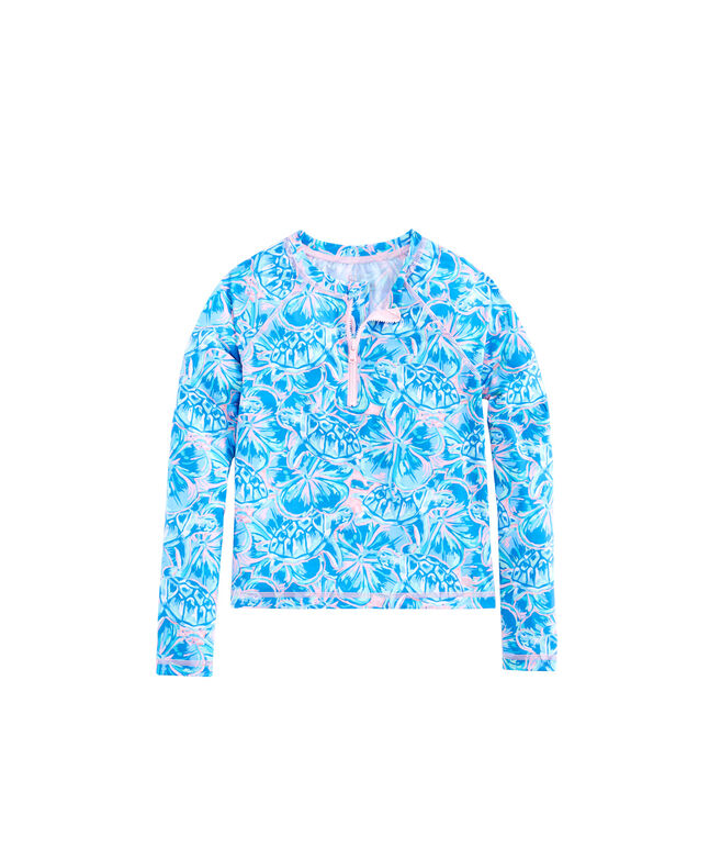 Girls Tropical Turtles Rashguard