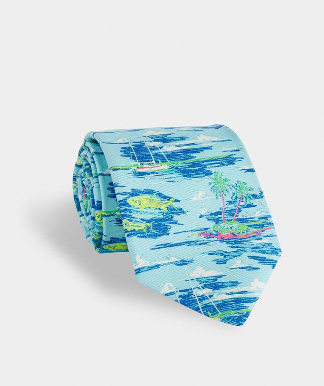 Ocean Scenic Printed Tie