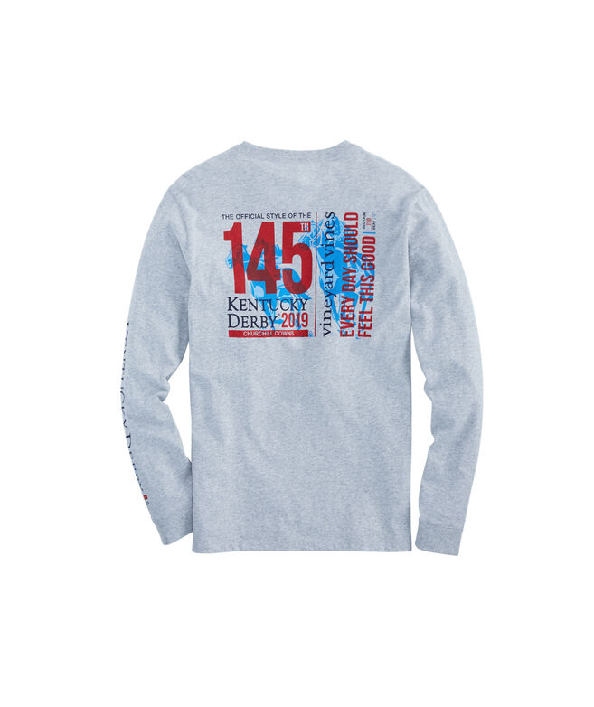 Kentucky Derby 145 Ticket Long-Sleeve Pocket Tee