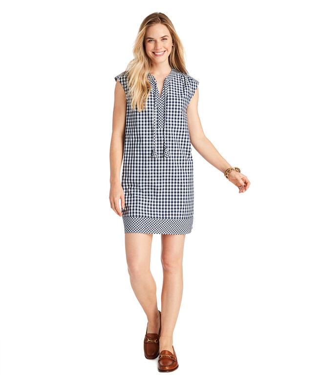 Gingham Mix Tunic Dress