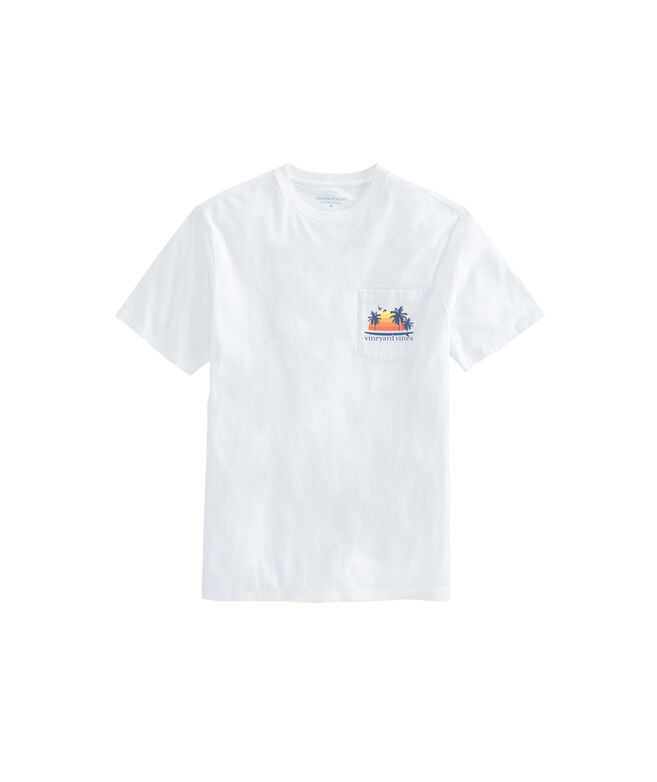 Sunset Surfboard Short-Sleeve Pocket Tee