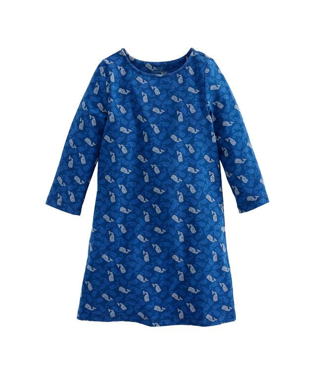 Girls Knit Polka Dot Whales Tisbury Dress