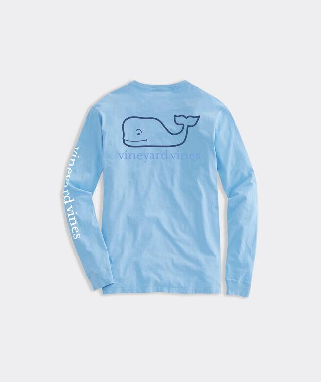 Tri Color Whale Long-Sleeve Pocket Tee