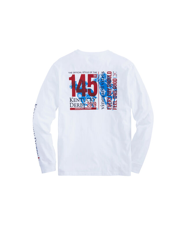 Long-Sleeve Kentucky Derby 145 Ticket Pocket T-Shirt