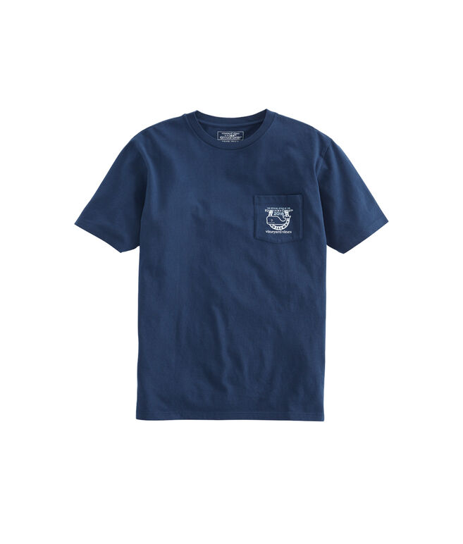 Race Scene Whale Fill Pocket T-Shirt