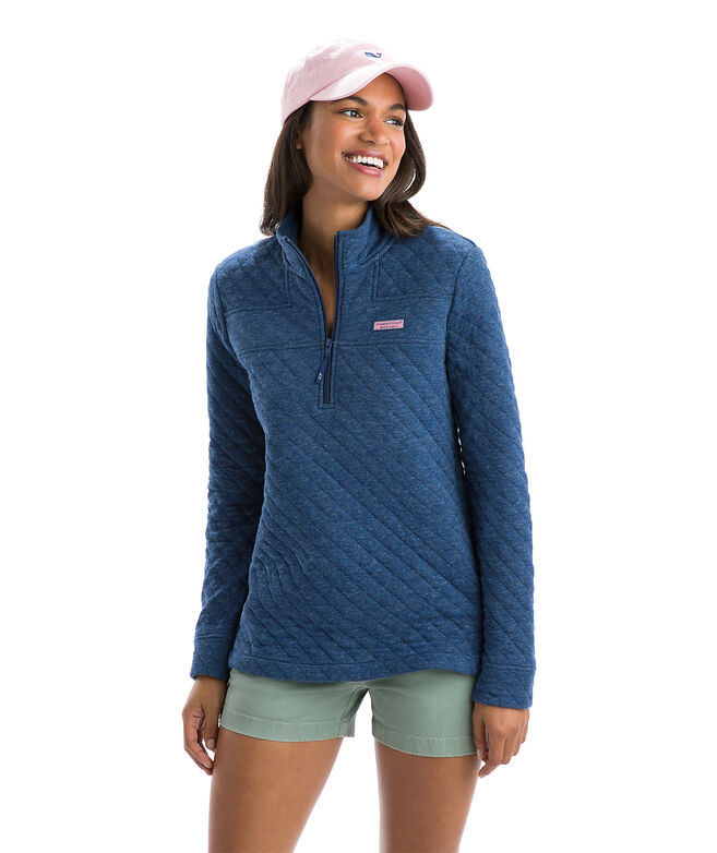 aebc4af771467d Shop Relaxed Heathered Quilted Shep Shirt at vineyard vines