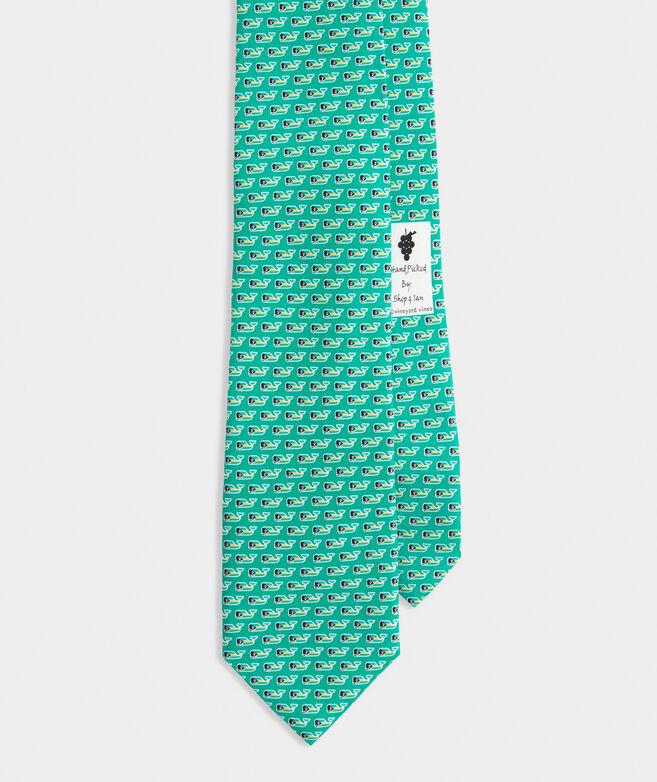 Bahamas Flag Whale Printed Tie
