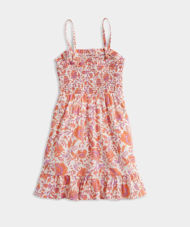 Girls' Marigold Floral Smocked Dress