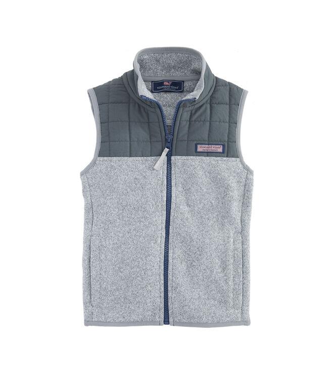 Boys Sweater Fleece Quilted Vest