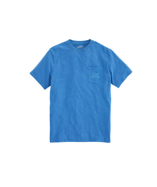 Heathered Vintage Whale Pocket T-Shirt