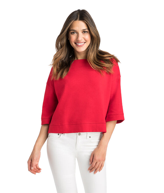 Cropped Elbow Sleeve Popover