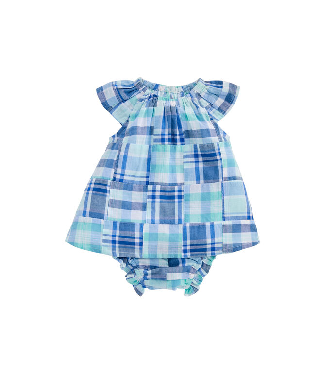 Baby Girl Madras Patchwork Swing Set