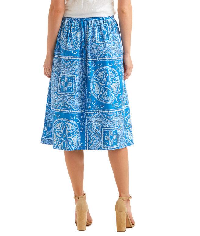Shop Sand Dollar Print Midi Skirt at vineyard vines
