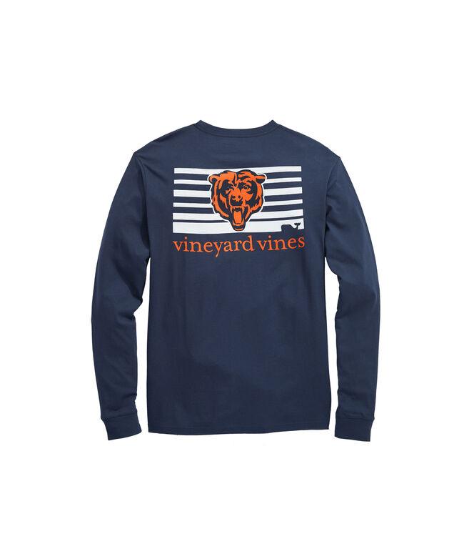 Chicago Bears Long-Sleeve Block Stripe T-Shirt